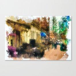 A Stroll Down Main Street Canvas Print