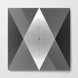 Moire Triangle I Metal Print