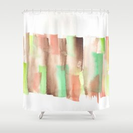 [161228] 14. Abstract Watercolour Color Study |Watercolor Brush Stroke Shower Curtain