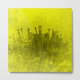 Acid Yellow Abstract Metal Print