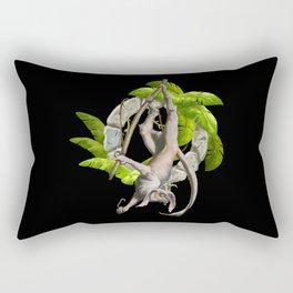 Demon Lemur | Fantastic Creature Design Rectangular Pillow