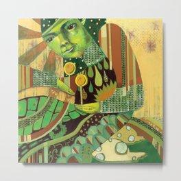 Green Music Metal Print