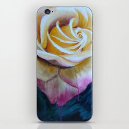 Pink and Yellow Rose painting iPhone Skin