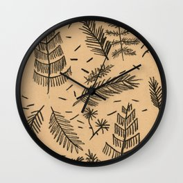Kraft Paper Pine Wall Clock