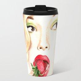 Strawberry. Scarlet Johansson. Travel Mug