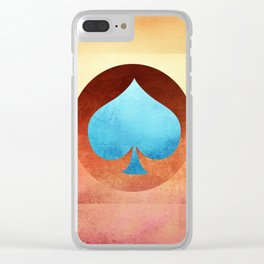 Ace of Spades III Clear iPhone Case