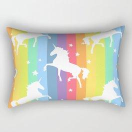 Rainbow Unicorns Rectangular Pillow