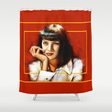 Mia Thurman Shower Curtain