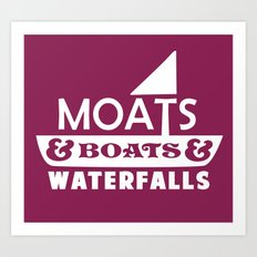 Moats and Boats and Waterfalls Graphic Art Print