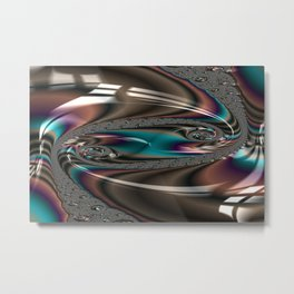 Enamored Selenium Fractal 4 Metal Print