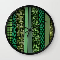 bamboo Wall Clocks featuring Bamboo by glorya