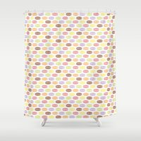 macaroons Shower Curtains featuring Macaroons by Rehan Butt