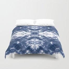 Shibori Tie Dye 4 Indigo Blue Duvet Cover