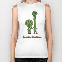 boyfriend Biker Tanks featuring Broccolini Boyfriend by khalan