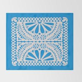 Fiesta de Flores in Party Blue Throw Blanket