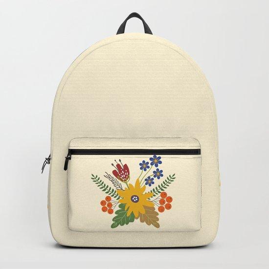 Autumn Fall Flower Bouquet Backpack