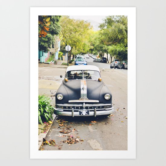Vintage Cars of San Fran 1 Art Print