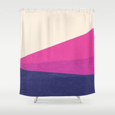 Stripe IV Violet Ray Shower Curtain