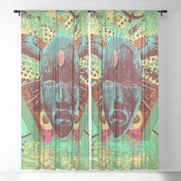 NATIVE BEATS Sheer Curtain