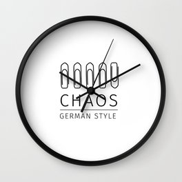 Chaos: German Style Wall Clock
