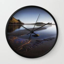Worms Head on the Gower peninsula Wall Clock