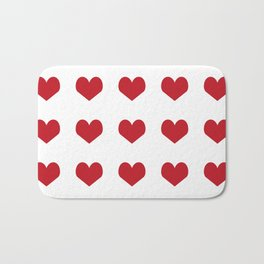Hearts pattern red and white minimal modern essential valentines day gifts for anyone love Bath Mat