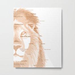 The Regal Type Metal Print