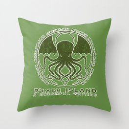 R'lyeh Island Throw Pillow