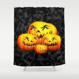 Cute Pumpkin Family Shower Curtain