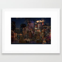 Eclectic NYC Framed Art Print