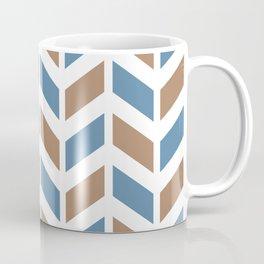 Blue, beige and white chevron pattern Coffee Mug