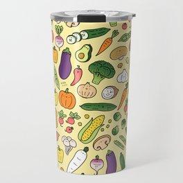 Veggie Friends Doodle Travel Mug