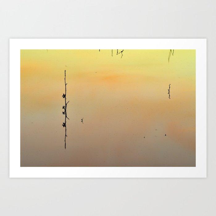 Minimal in water Art Print
