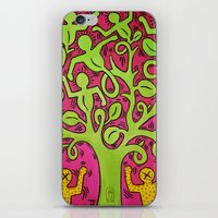 keith haring iPhone & iPod Skins featuring Copy of Tree of Life - Keith Haring by JeyJey Artworks