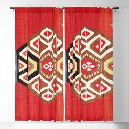 Shahsavan Azerbaijan Northwest Persian Kilim Print Blackout Curtain