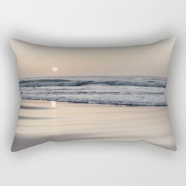 Pastel sunset at the beach II | Waves of the Atlantic Ocean | Fine Art Travel Photography | Rectangular Pillow