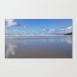 Blue and White Beach Canvas Print