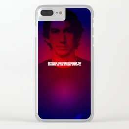 "Acting is really... ""Adam Driver"" Celebrity with Quote Clear iPhone Case"