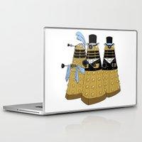 pride and prejudice Laptop & iPad Skins featuring Pride and Prejudice and Daleks by mikaelak