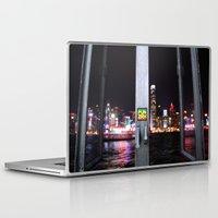 hong kong Laptop & iPad Skins featuring Hong Kong  by Chernyshova Daryna