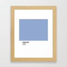 Pantone – Serenity Framed Art Print