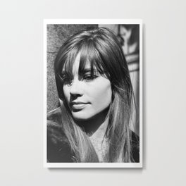 Francoise Hardy Singer Art Wall Indoor Room Outdoor Poster Metal Print