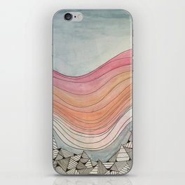 hills and sky iPhone Skin