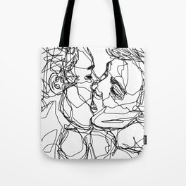 Boys kiss too Tote Bag