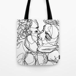 Boys kiss too Tote Bag