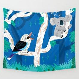 The Koala and the Kookaburra (version 2) Wall Tapestry