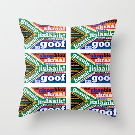 South African slang and colloquialisms Throw Pillow