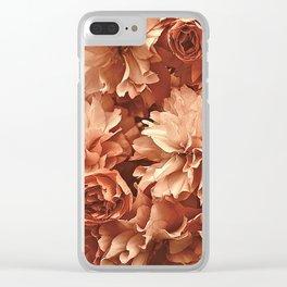 Vintage Ornamental Plum Blossoms Clear iPhone Case