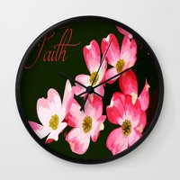 faith Wall Clocks featuring faith by Shea33