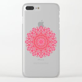 Mandala 12 / 5 eden spirit ruby red Clear iPhone Case